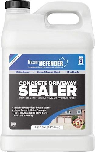 MasonryDefender concrete driveway sealer