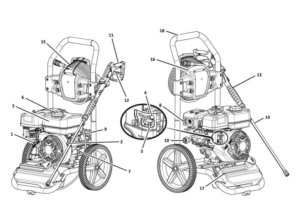 Pressure washer parts diagram